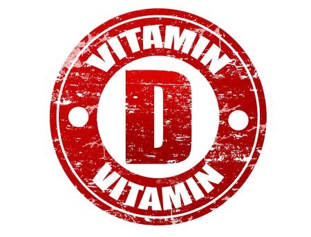 d: Vitamin d label in grunge rubber stamp effect