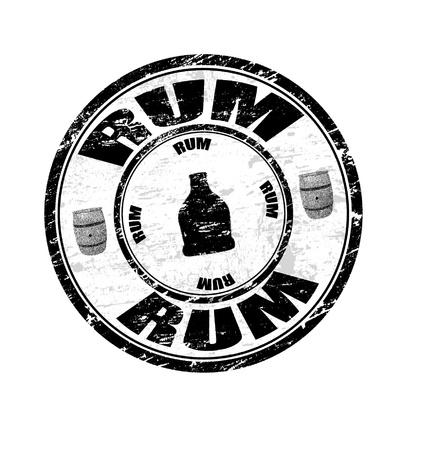 grunge rum rubber stamp