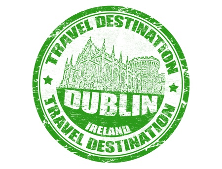 Grunge rubber stamp with the text travel destinations Dublin inside illustration Stock Vector - 14002852