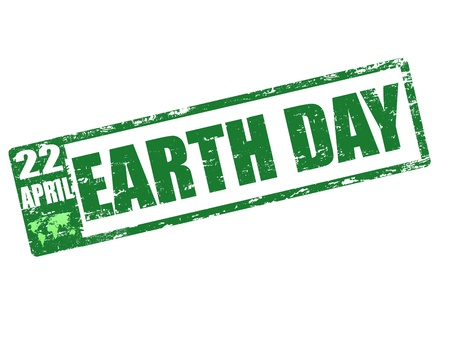 april 22 - earth day stamp Stock Vector - 14002825