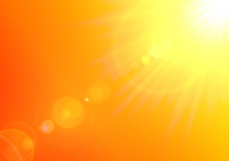 sun: Background texture with warm sun and lens flare