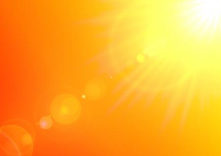 illustrazione sole: Texture di sfondo con il sole caldo e lens flare