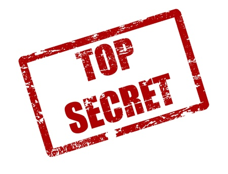 espionaje: sello rojo del grunge con el secreto de texto superior por escrito dentro del sello Vectores