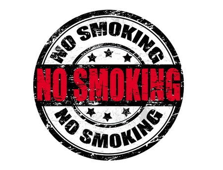 tobacco product: Abstract grunge rubber stamp in vector format with the word no smoking Illustration