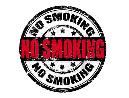 prohibido fumar: Grunge sello de goma en formato vectorial con la palabra no fumar