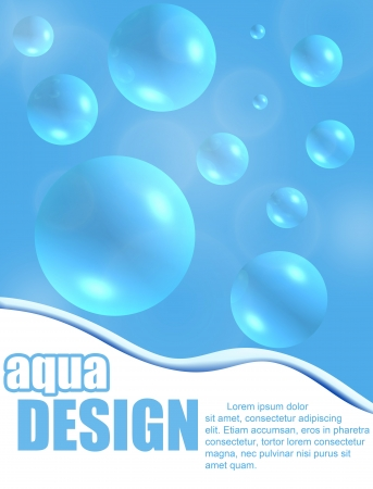 Aqua design background with space for your text, illustration Vector