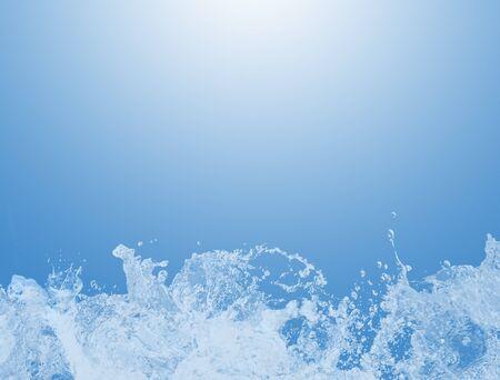 water level: Water splash background