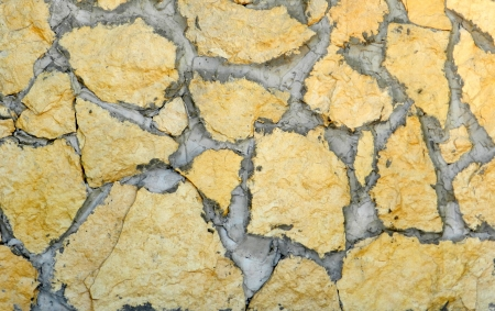 Pattern of yellow stones different sizes Stock Photo - 14838137
