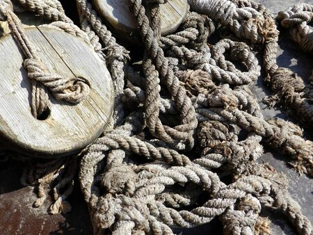 trailing: Ships rope background Stock Photo