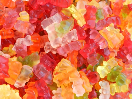 bonbons: gummy bear background Stock Photo