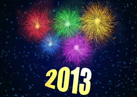 Happy New Year 2013 background illustration Stock Vector - 15125027