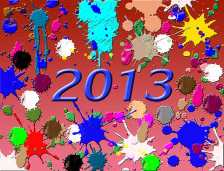 nye: New year 2013 on splash background