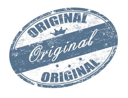 originales: Oficina Abstract grunge sello de goma con peque�as estrellas, cuervo y la palabra original escrita dentro del sello