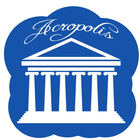 templo griego: Grecia Partenón icono Vectores