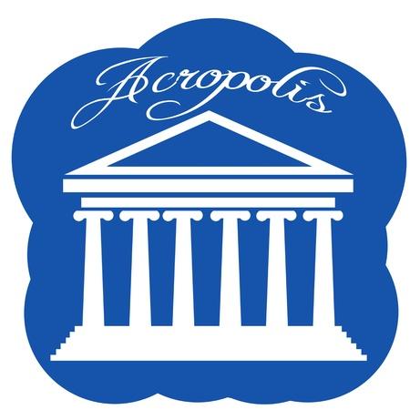 greek temple: Greece Parthenon icon