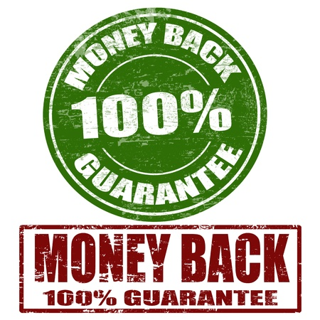 Set of grunge rubber stamps with the text money back guarantee written inside Stock Vector - 16101638