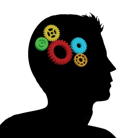 Cogs or gears in human head Stock Vector - 16101656