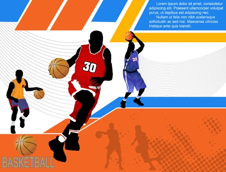 Basketball advertising poster with space for your text Vector