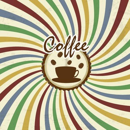 Retro Vintage Coffee Background, vector illustration Stock Vector - 16879310