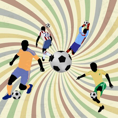 Soccer Action players. Abstract Classical football poster, vector illustration Vector