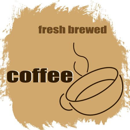 Fresh brewed coffee vintage grunge poster, vector illustrator Vector