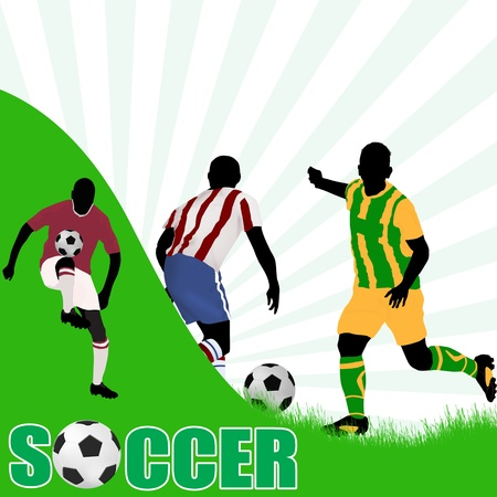 Abstract classical soccer poster with space for your text Stock Vector - 17147831