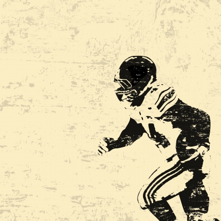 football silhouette: Football americano grunge background manifesto, manifesto vettore