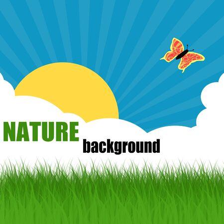 Nature ecology poster with space for your text, vector illustration Stock Vector - 17359676