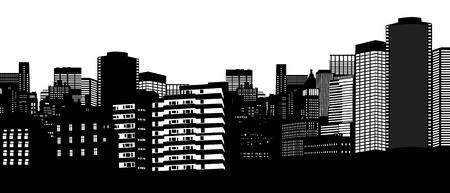 City skyline on white background Stock Vector - 17382812