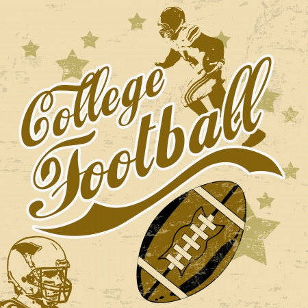 College american football grunge poster background, vector poster Stock Vector - 17430930