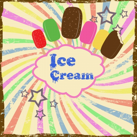 Ice cream vintage grunge poster Stock Vector - 17959500