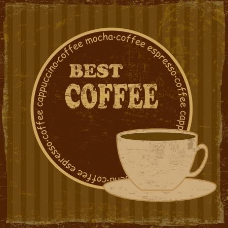 Best coffee vintage retro grunge poster, illustrator Stock Vector - 18119225