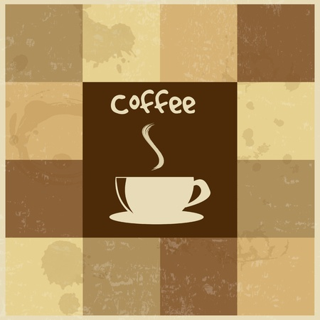 Retro Vintage Coffee Background , vector illustration Stock Vector - 18278489
