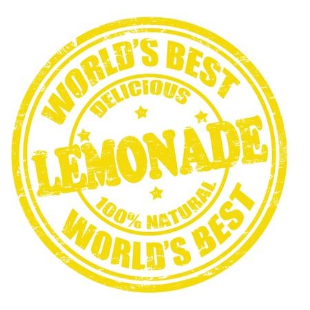 Lemonade grunge rubber stamp on white background Vector