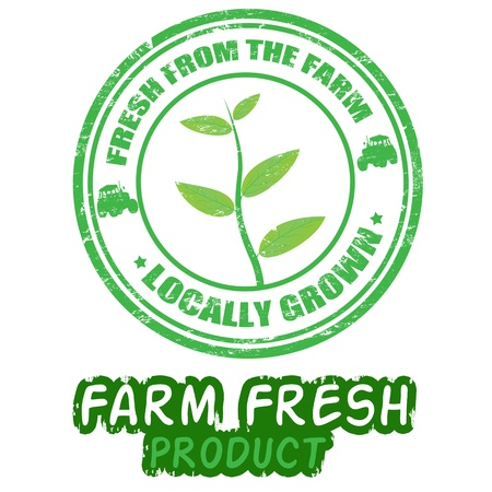 fresh produce: fresh grunge rubber stamps