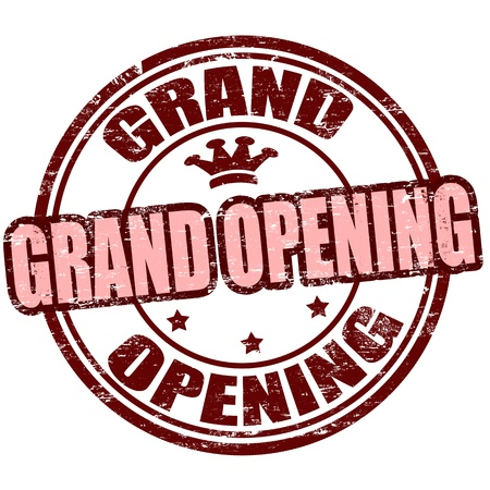 Grunge rubber stamp with the text grand opening written inside, vector illustration Stock Vector - 18504417