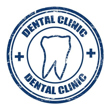 simbolo medicina: Grunge sellos de goma con la clínica dental texto escrito en su interior, ilustración vectorial