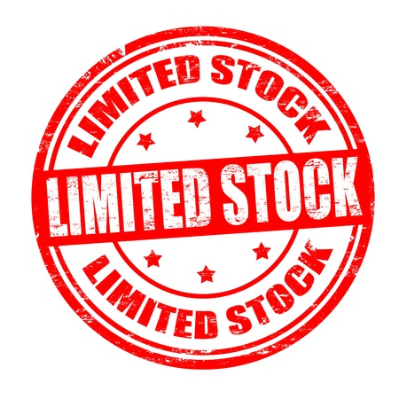 edizione straordinaria: Grunge timbro di gomma con il testo stock limitato scritto dentro, illustrazione vettoriale Vettoriali