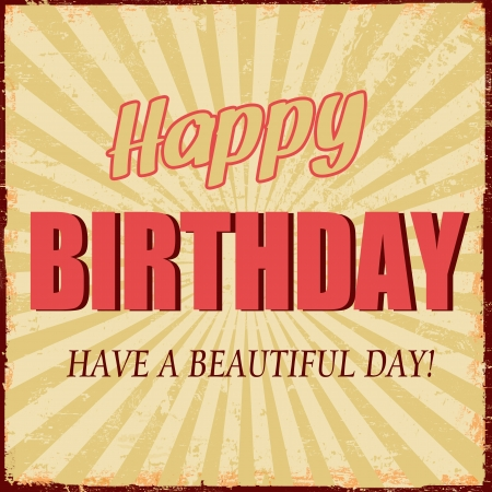Happy Birthday vintage grunge poster, illustration Stock Vector - 18798333