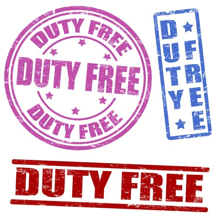 Set of duty free grunge rubber stamps   Stock Vector - 18931101