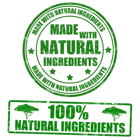 certified: Made with natural ingredients grunge rubber stamps