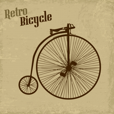 imperfections: Bicycle vintage grunge poster, vector illustration