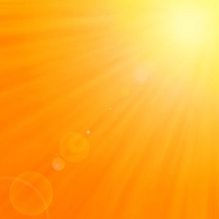 Background texture with warm sun and lens flare illustration Vector