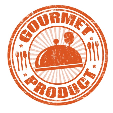 office product: Gourmet product grunge rubber stamp,  illustration Illustration