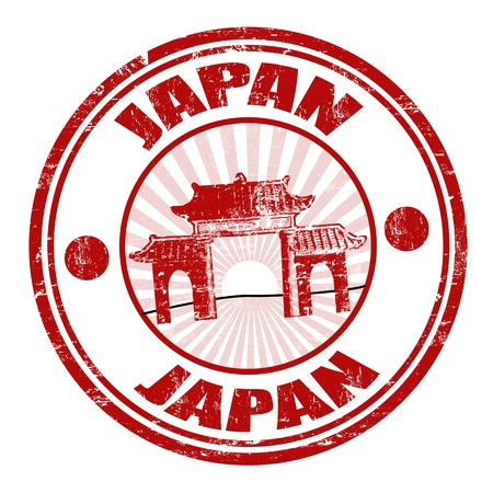 Japan grunge rubber stamp, illustration Vector