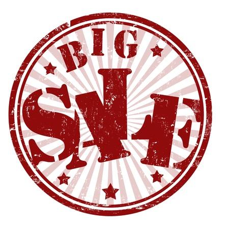 Big sale grunge rubber stamp, illustration Stock Vector - 20613944