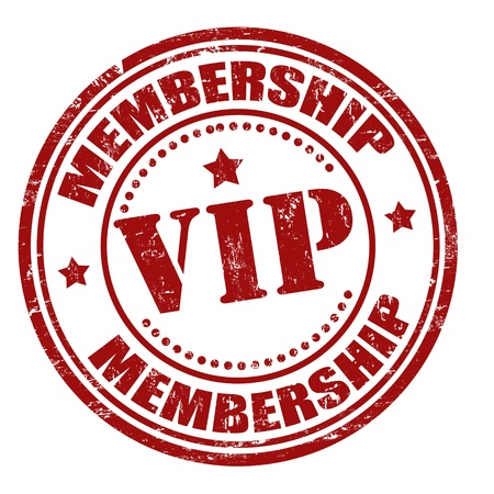 Grunge membership vip rubber stamp, illustration Vector