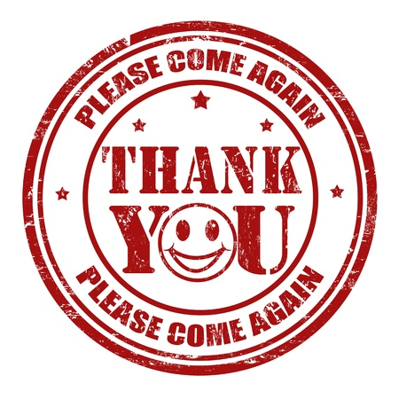 thanks a lot: Thank you grunge rubber stamp, illustration