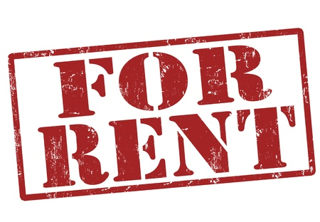 renter:  For rent grunge rubber stamp, illustration Illustration