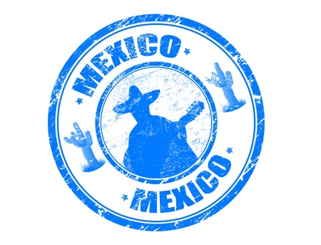 stamp with Mexico photo